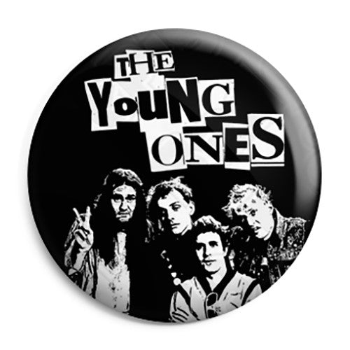 The Young Ones - Cast Photo - TV Comedy Button Badge
