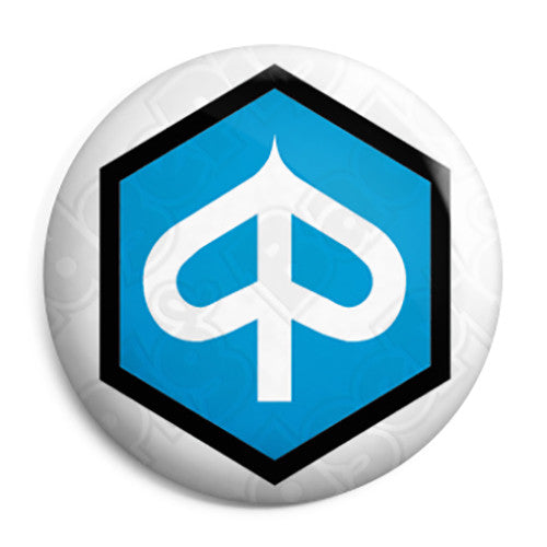 Piaggio Vespa Logo - Scooter Scooterist Button Badge