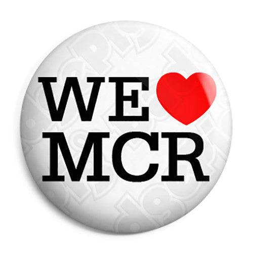 We Love Heart MCR - Support Manchester Terror Attack Victims Button Badge
