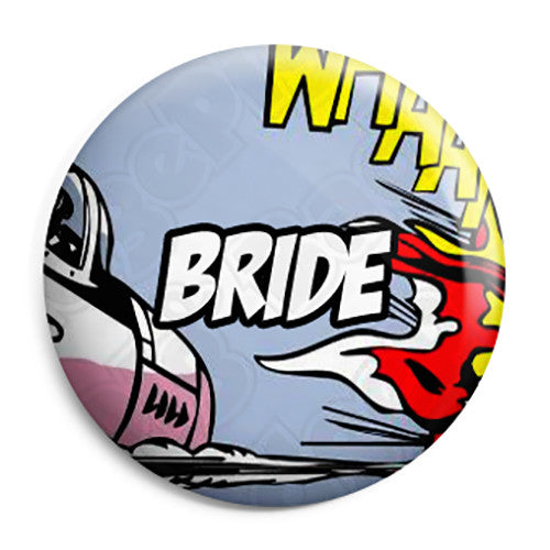 Bride - Whaam Comic Art Theme Wedding Pin Button Badge