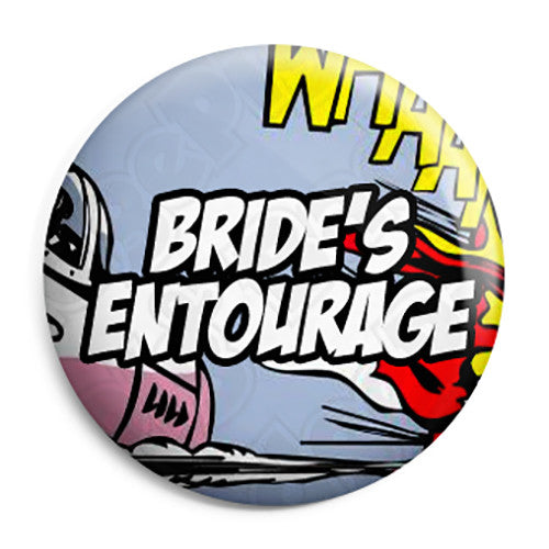 Brides Entourage - Whaam Comic Art Theme Wedding Pin Button Badge