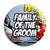 Family of the Groom - Whaam Comic Art Theme Wedding Pin Button Badge