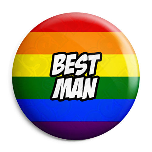 Best Man - LGBT Gay Wedding Pin Button Badge