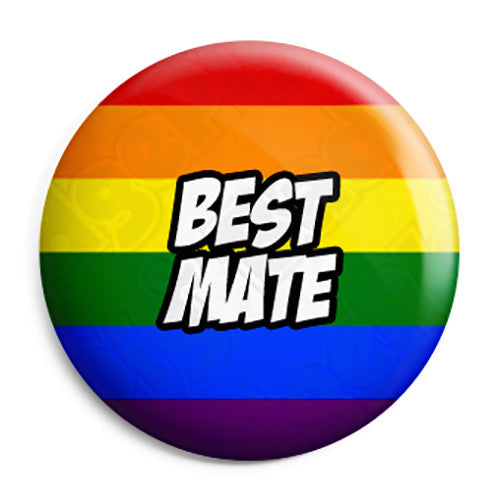 Best Mate - LGBT Gay Wedding Pin Button Badge
