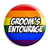 Groom's Entourage - LGBT Gay Wedding Button Pin Badge