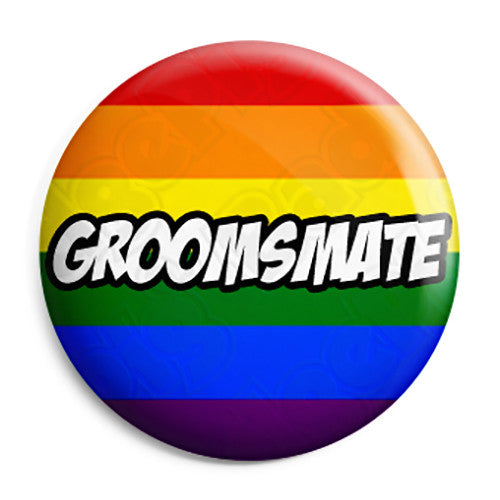 Groomsmate - LGBT Gay Wedding Button Pin Button Badge