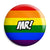 Mr - LGBT Gay Wedding Pin Button Badge
