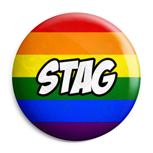 Stag - LGBT Gay Wedding Pin Button Badge