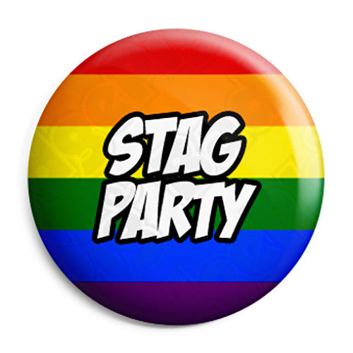 Stag Party - LGBT Gay Wedding Pin Button Badge