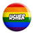 Usher - LGBT Gay Wedding Pin Button Badge