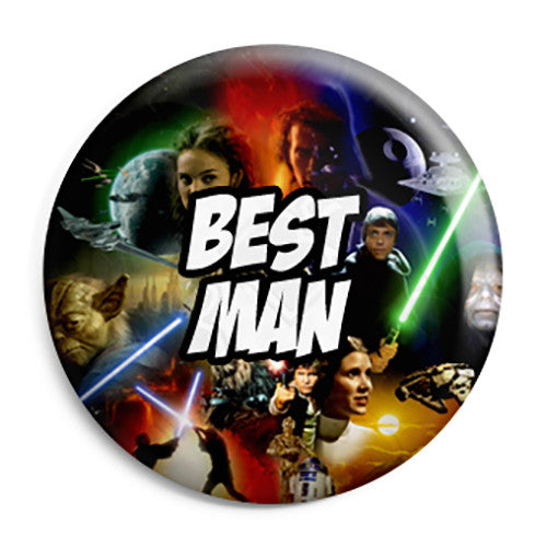 Best Man - Star Wars Film Movie Theme Wedding Pin Button Badge
