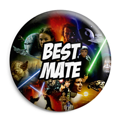 Best Mate - Star Wars Film Movie Theme Wedding Pin Button Badge