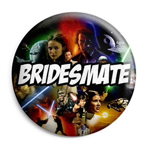 Bridesmate - Star Wars Film Movie Theme Wedding Pin Button Badge