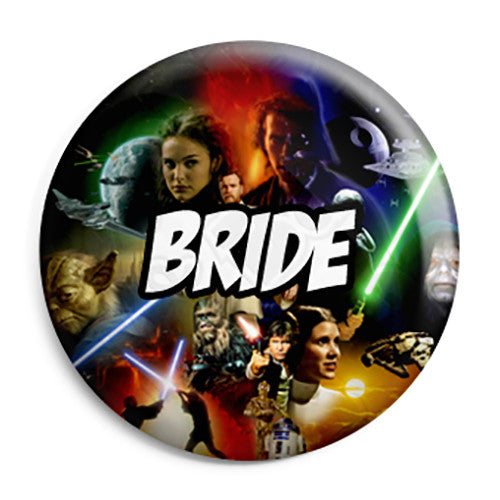 Bride - Star Wars Film Movie Theme Wedding Pin Button Badge