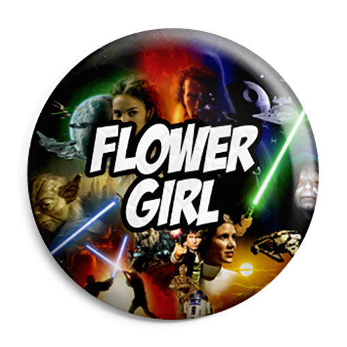 Flower Girl - Star Wars Film Movie Theme Wedding Pin Button Badge