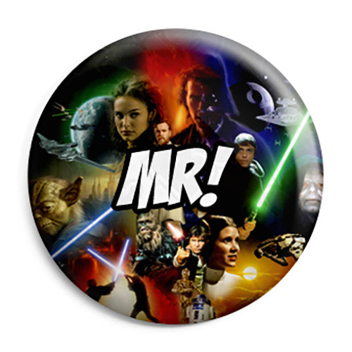 Mr - Star Wars Film Movie Theme Wedding Pin Button Badge