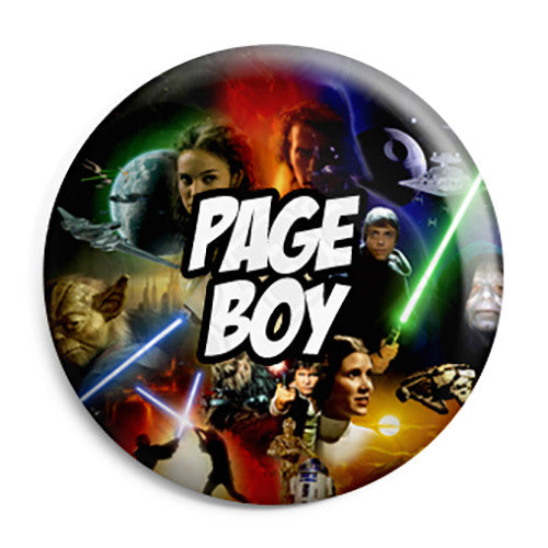 Page Boy - Star Wars Film Movie Theme Wedding Pin Button Badge