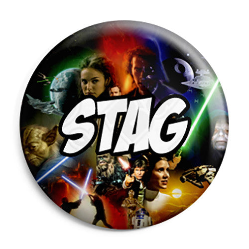 Stag - Star Wars Film Movie Theme Wedding Pin Button Badge