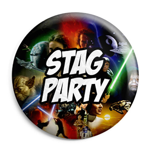 Stag Party - Star Wars Film Movie Theme Wedding Pin Button Badge