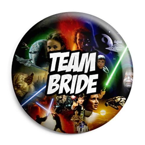 Team Bride - Star Wars Film Movie Theme Wedding Pin Button Badge