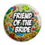 Friend of the Bride - Tattoo Theme Wedding Pin Button Badge