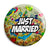 Just Married - Tattoo Theme Wedding Pin Button Badge