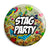 Stag Party - Tattoo Theme Wedding Pin Button Badge