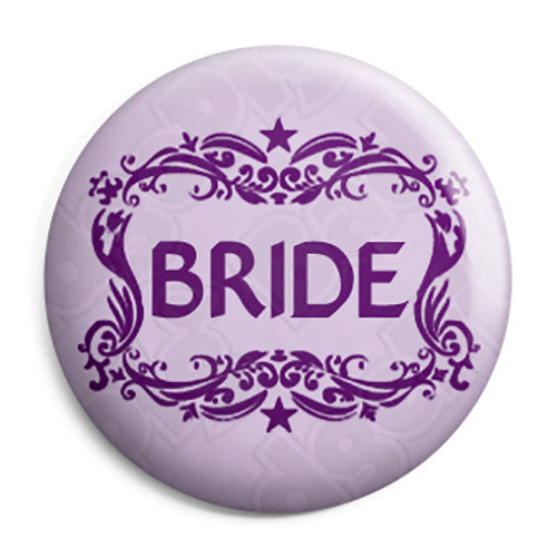 Bride - Classic Marriage Button Badge