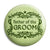 Father of the Groom - Classic Marriage Button Badge