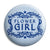 Flower Girl - Classic Marriage Button Badge