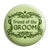 Friend of the Groom - Classic Marriage Button Badge