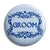 Groom - Classic Marriage Button Badge
