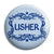 Usher - Classic Marriage Button Badge