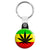 Weed Leaf Rasta Flag - Cannabis Key Ring