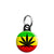 Weed Leaf Rasta Flag - Cannabis Mini Keyring
