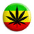 Weed Leaf Rasta Flag - Cannabis Button Badge
