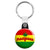 Marijuana Rasta Flag - Cannabis Key Ring