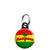 Marijuana Rasta Flag - Cannabis Mini Keyring