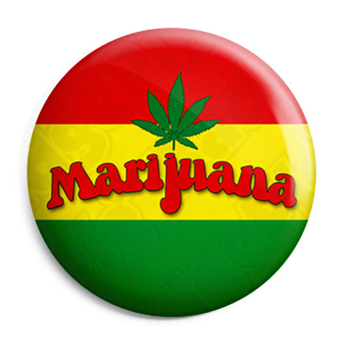 Marijuana Rasta Flag - Cannabis Button Badge