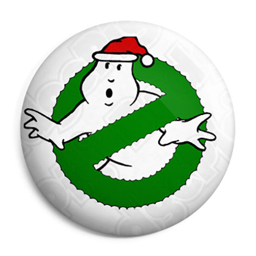 Ghostbusters Xmas Logo - Christmas Film Movie Button Badge