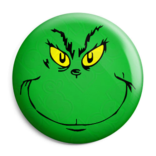 The Grinch That Stole Christmas - Dr Seuss Xmas Button Badge