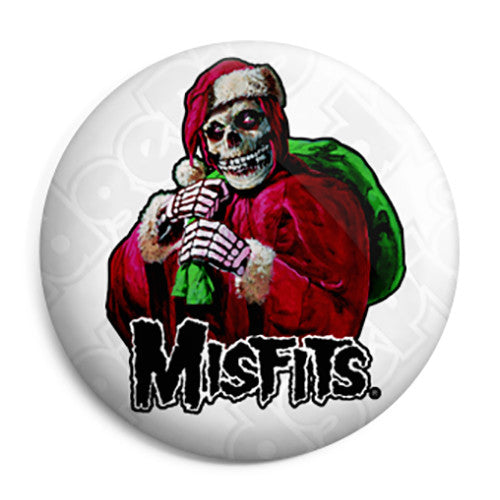 Misfits Horror Punk Badge - Xmas Santa Claus Button Badge
