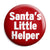 Santa's Little Helper - Xmas Father Christmas Button Badge