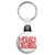 Merry Christmas Festive Message - Xmas Key Ring