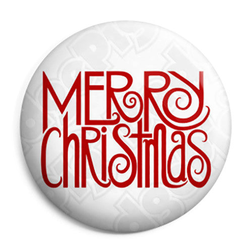 Merry Christmas Festive Message - Xmas Button Badge