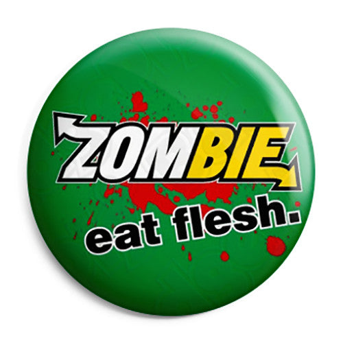 Zombie Eat Flesh - Subway Horror Waking Dead Pin Button Badge