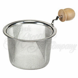 "3"" Strainer with Wooden Handle"