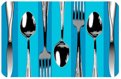 Pop Silverware Blue Stripe