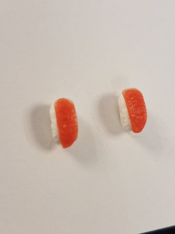 Sake Nigiri Salmon Sushi stud earrings