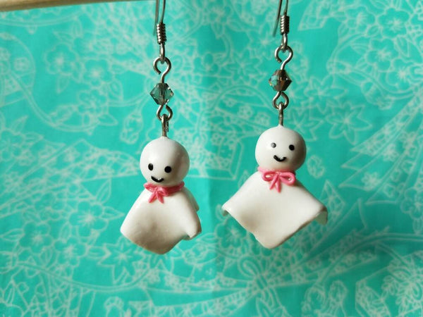 Teru Teru Bozu Earrings - Japanese Rain Charm